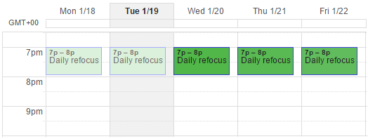 Google Calendar Refocus