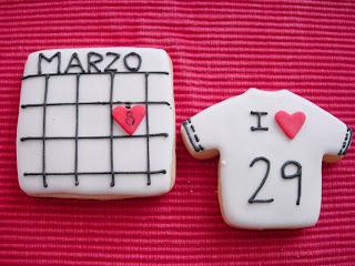 Galleta cumpleaños calendarios