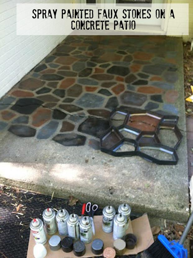 Painted Faux Stones