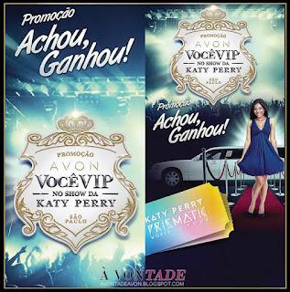 Promoção Você VIP no show da Katy Perry - Avon