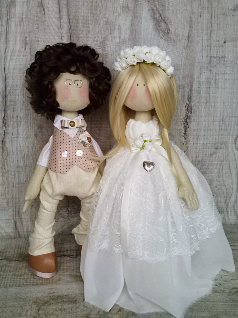 Купить свадебные куклы, куклы коннэ, кукла невеста