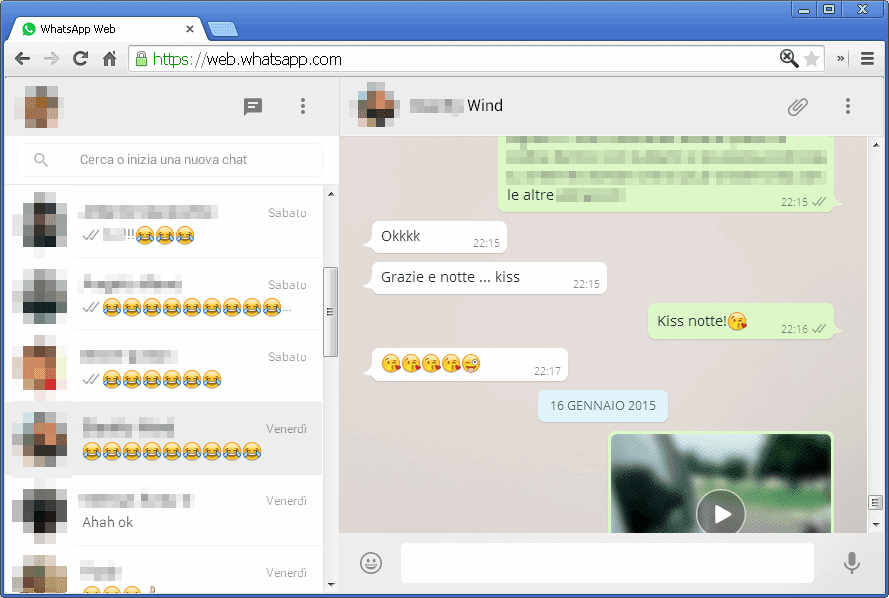 WhatsApp Web su PC con Chrome