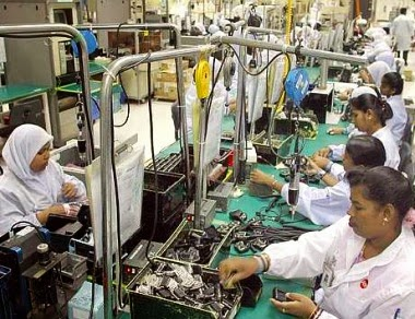Factory workers in Malaysia
