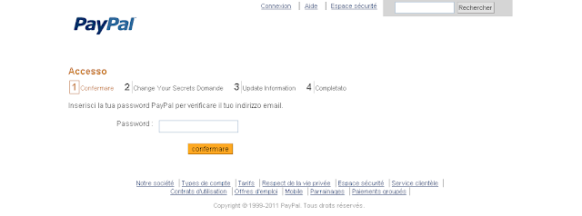 Phishing: falso messaggio PayPal