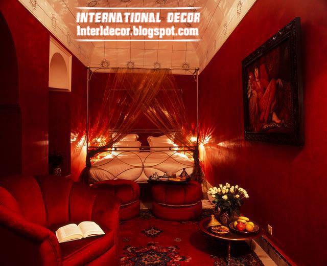 Romantic red tones in home decor red color decorations - Sensual bedroom ideas ...