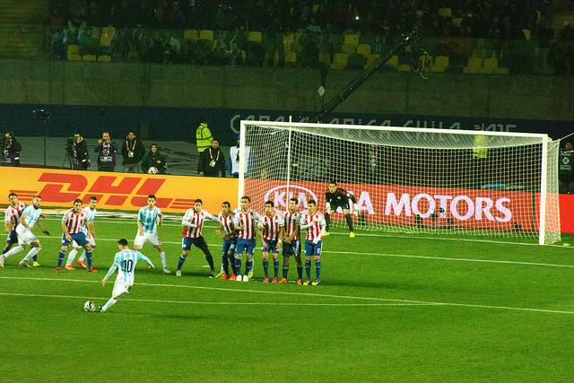 lionel messi argentina vs paraguay copa america 2015
