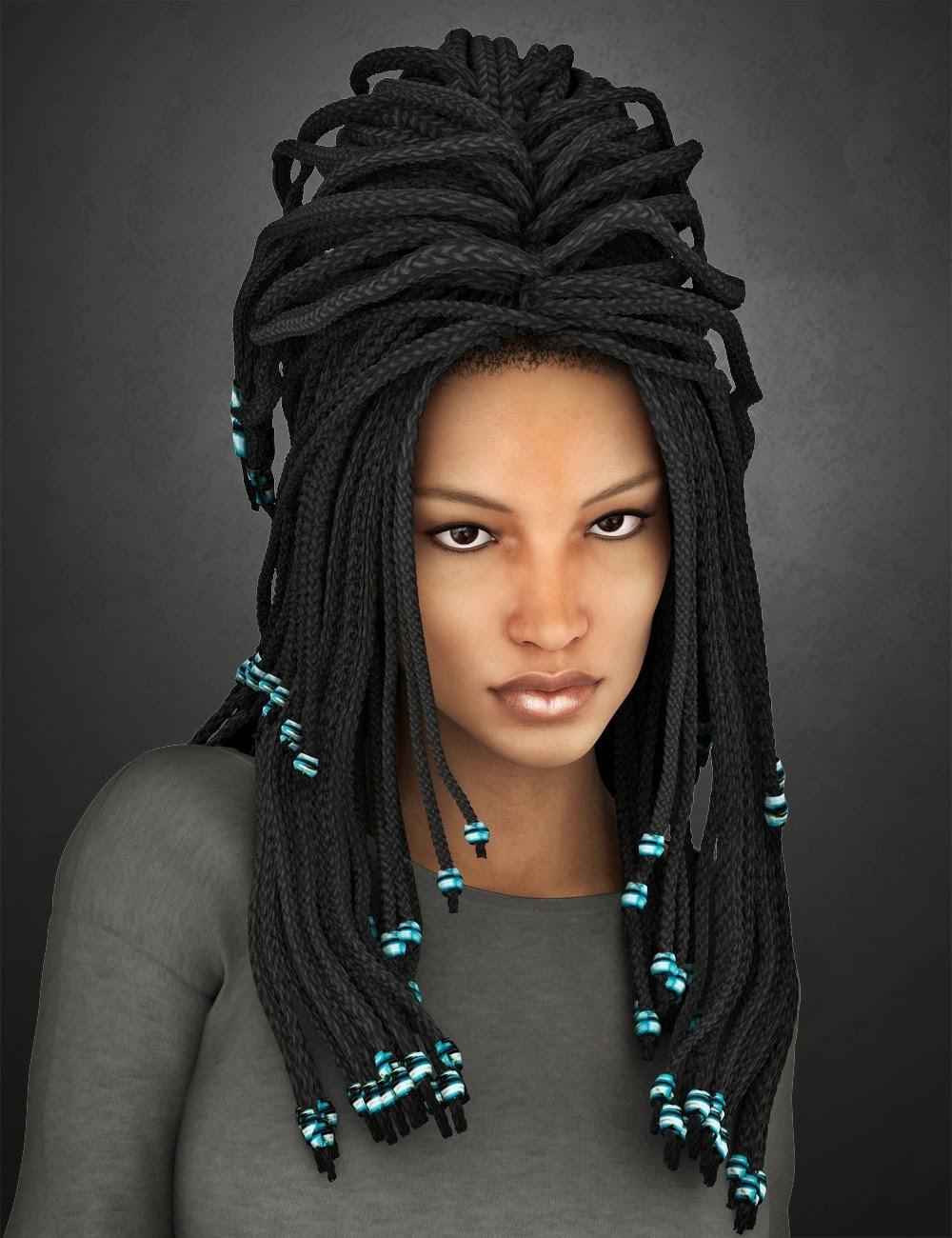 Medea cheveux add-on pour Genèse 2 Femme et Victoria 4
