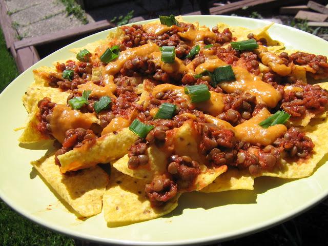 Lentil Chili Nachos