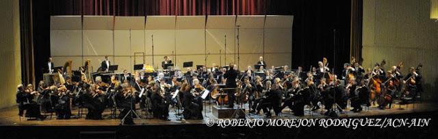La Orquesta Sinfónica de Minnesota, durante su segunda presentación, en el Teatro Nacional de Cuba, en  La Habana, el 16 de mayo de 2015.