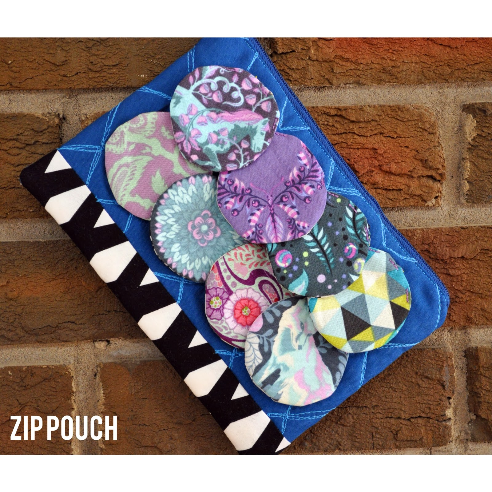 Quilted Zip Pouch by Nizhoni Workshop