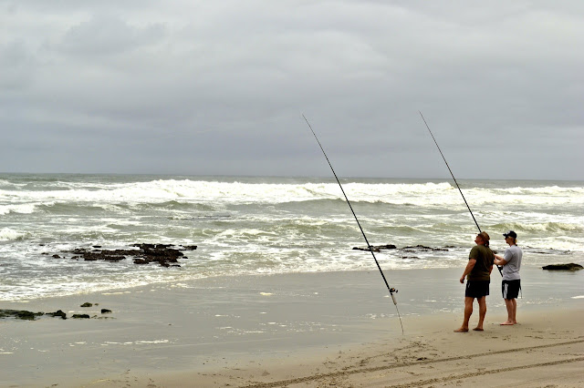 Beach fishing along the Skeleton Coast