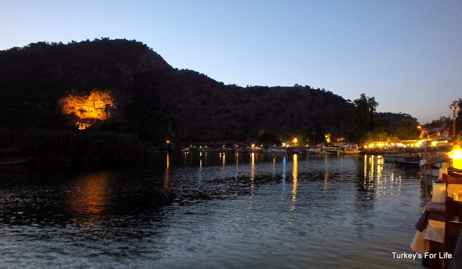 Dalyan River & Rock Tombs At Night