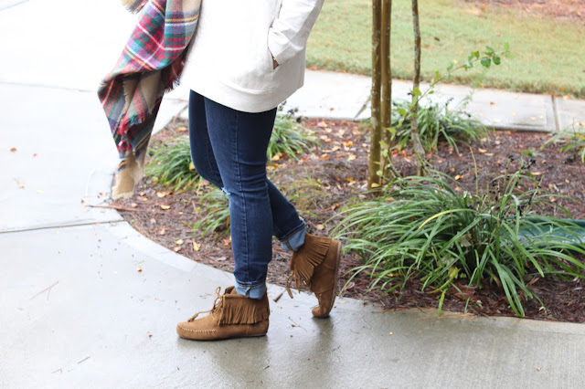 Minnetonka fringe boots via Rack Room Shoes