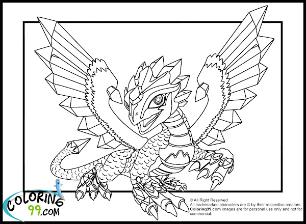 Skylanders Coloring Pages Dragons