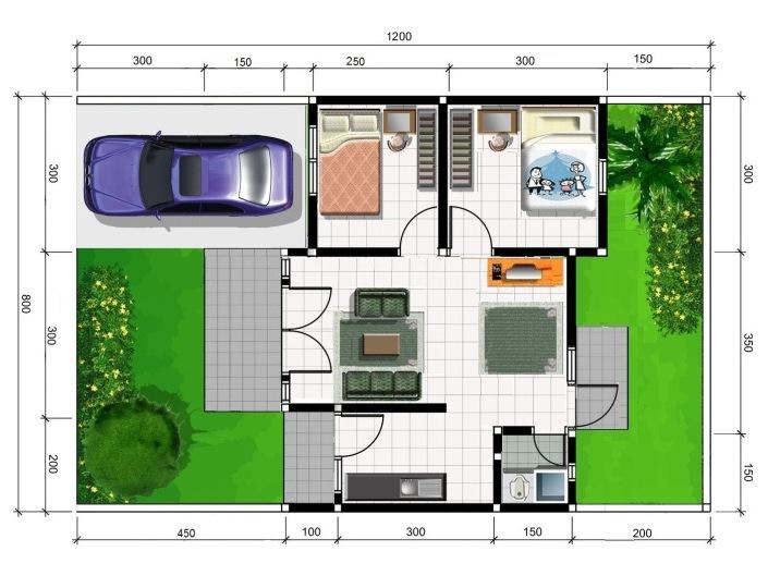 Dan masih banyak lagi contoh desain-desain denah rumah minimalis ...