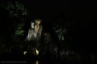 Giambologna Colosso Pratolino Sculpture Art Italy at night