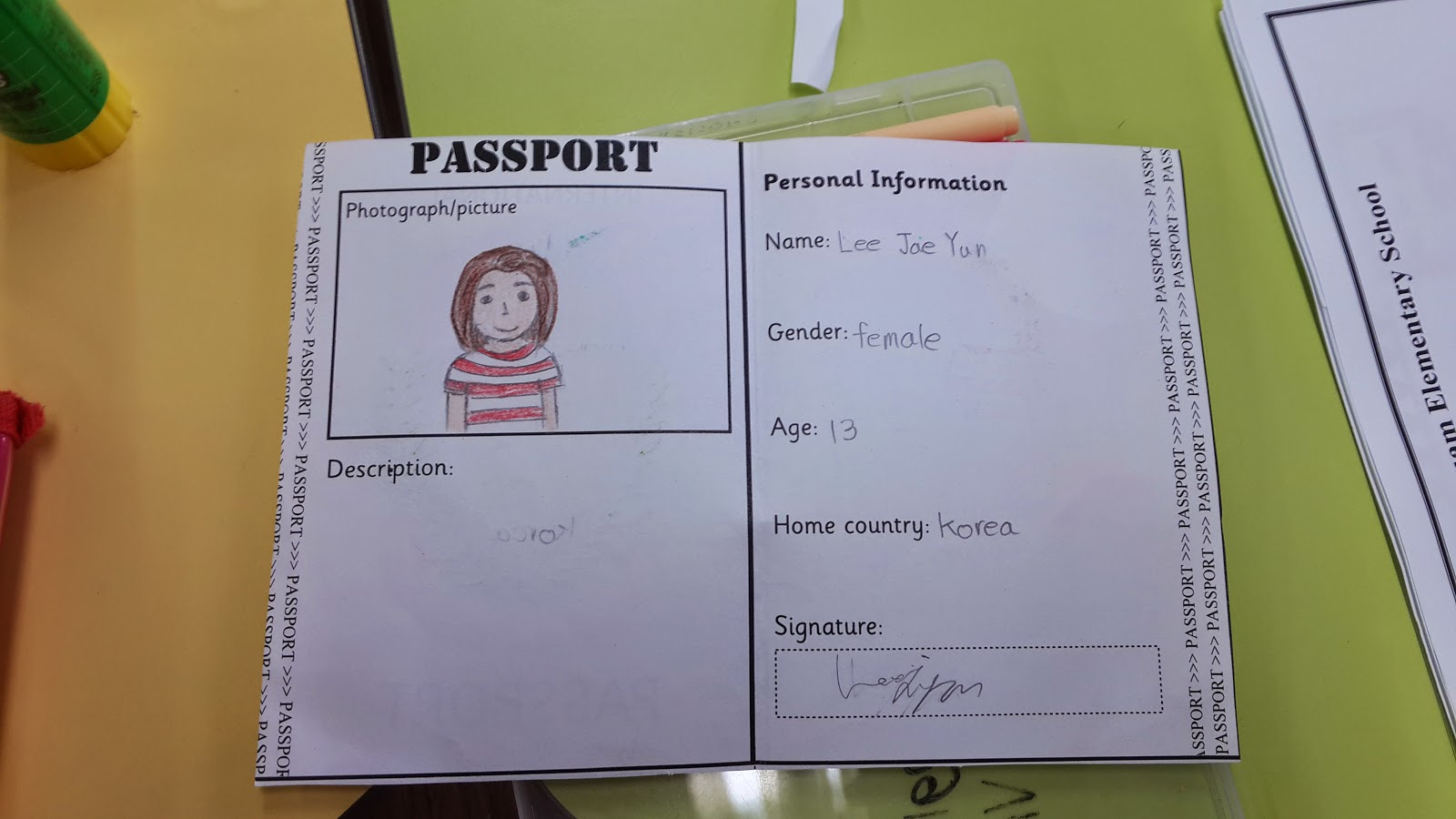 Free Worksheets And Powerpoints!  Free Passport Template For Kids