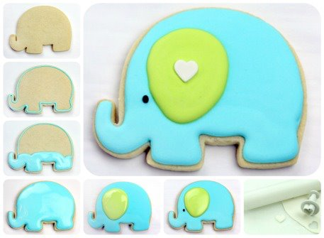 Recently I Came Across A Post Made By Marian At Sweetopia.net And She Made  A Beautiful Baby Elephant Cookie For A Baby Shower And I Just Fell In Love  With.