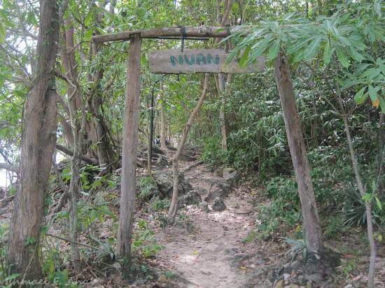 Trail to Ao Nuan Beach of Koh Samet Island