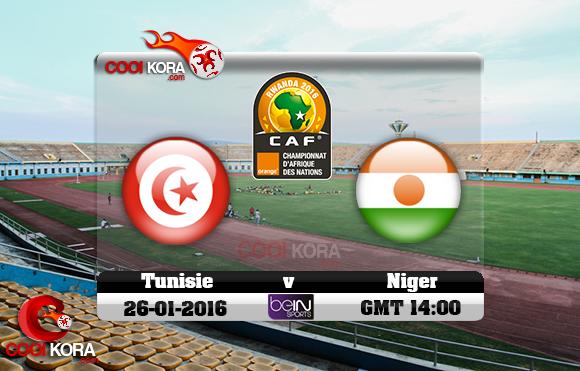 مشاهدة مباراة تونس والنيجر اليوم 26-1-2016 في كأس أفريقيا للاعبين المحليين