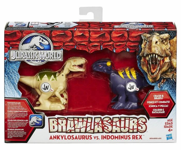 JUGUETES - JURASSIC WORLD : Brawlasaurs  Ankylosaurus vs. Indominus Rex Toys | Producto Oficial Película 2015 | Hasbro B1154 A partir de 4 años