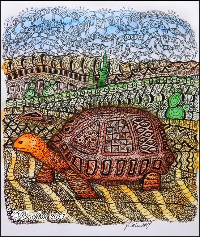 """""""Черепаха""""(tartl) - (узоры в технике зентангл)"""