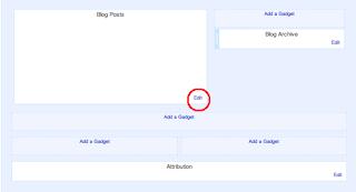 blog posts gadget