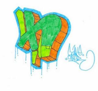 3D Graffiti Letter H