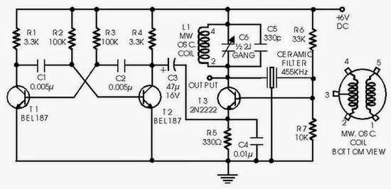 figure 1  circuit diagram simple if signal generator using