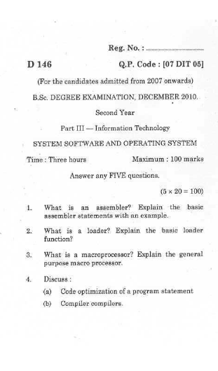 Paper on operating system