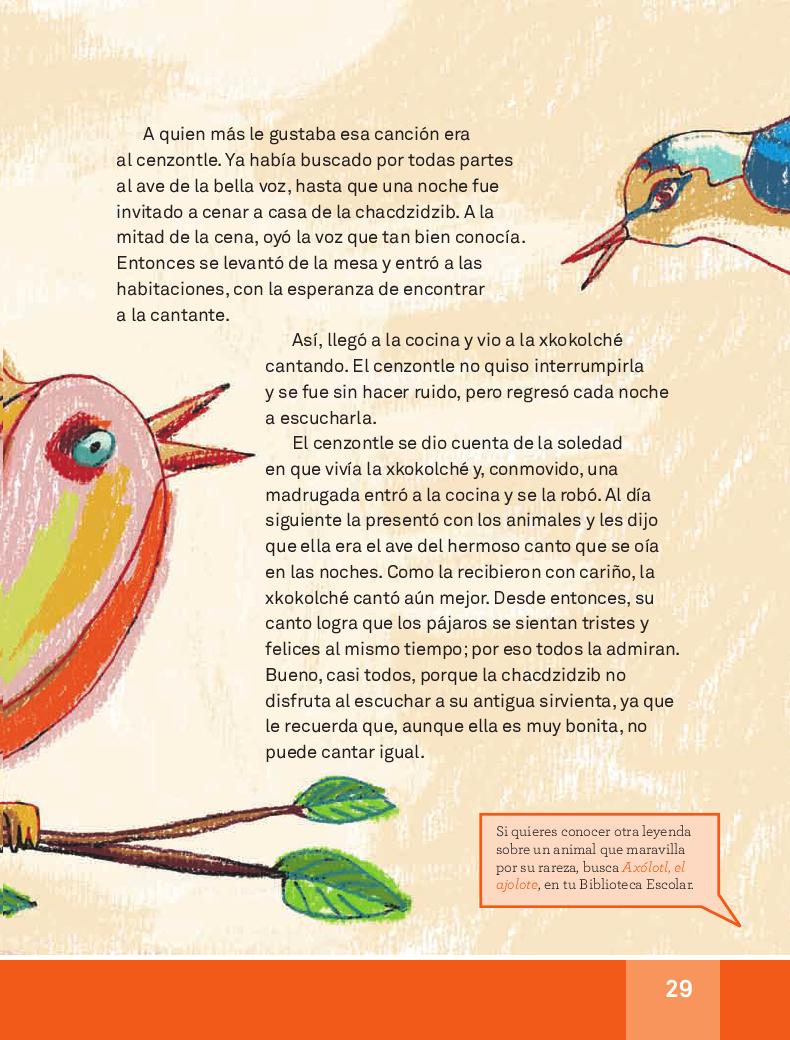 La xkokolché - español lecturas 3ro 2014-2015