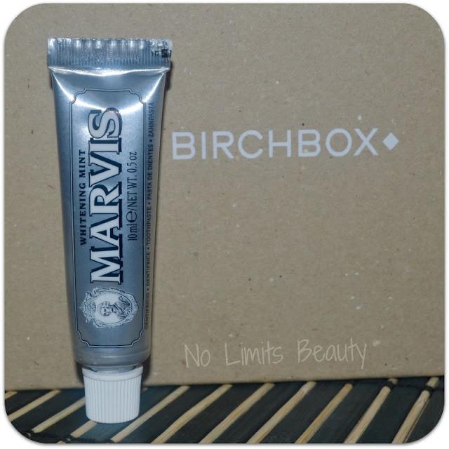 Birchbox Agosto 2015 - Pasta de dientes Whitening Mint de Marvis