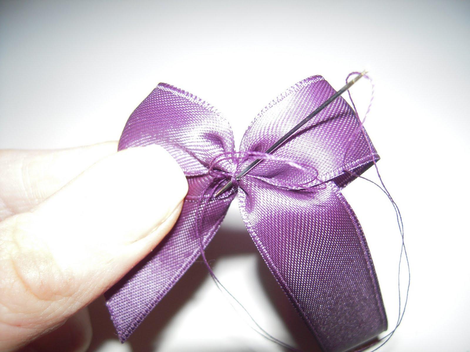 knyta fin rosett sidenband