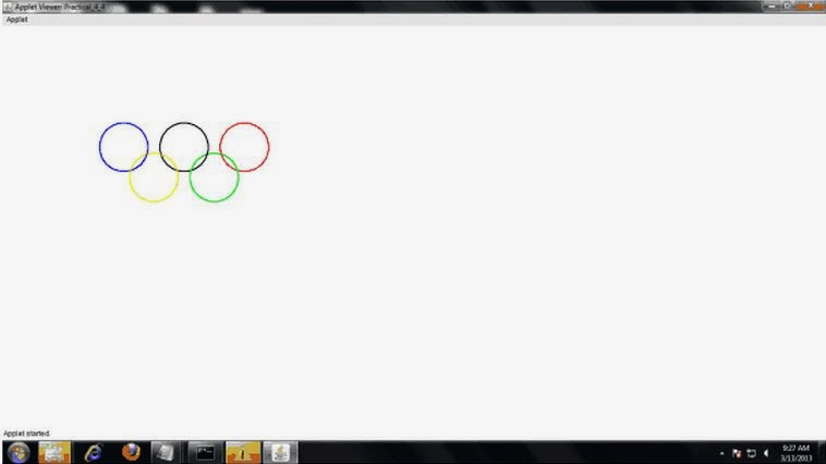 Bresenham S Line Drawing Algorithm In Java Applet : Rt says program to implement olympic ring mid point