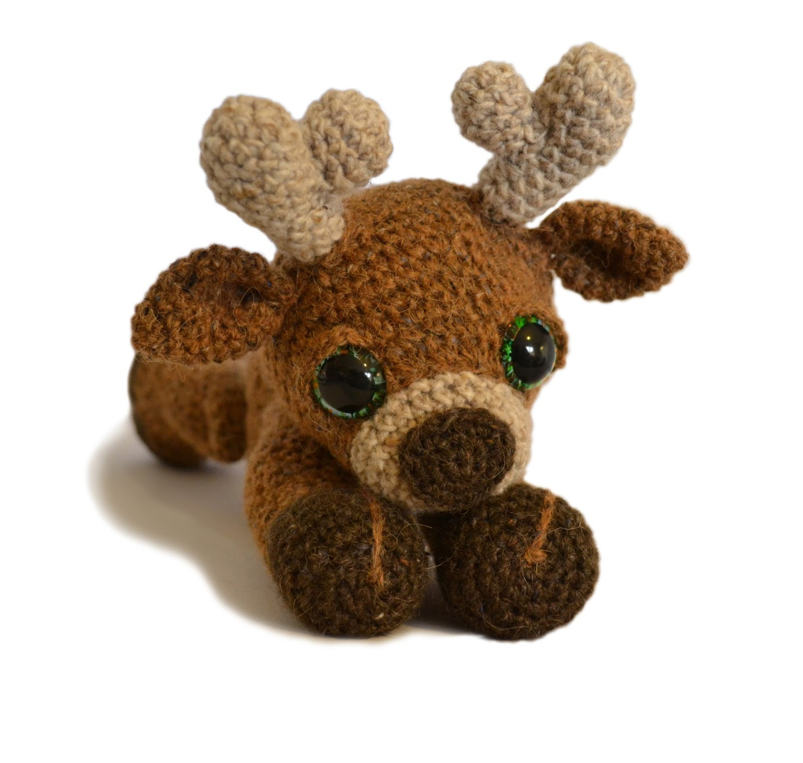 Patchwork moose marley the reindeer 325mm d crochet hook for crochet eyes option small amount of black and coloured yarn for crochet eyes option or 2 x 20mm safety eyes bankloansurffo Choice Image