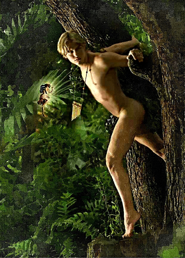 (a naked Peter Pan with Tinkerbell). Vittorio Carvelli