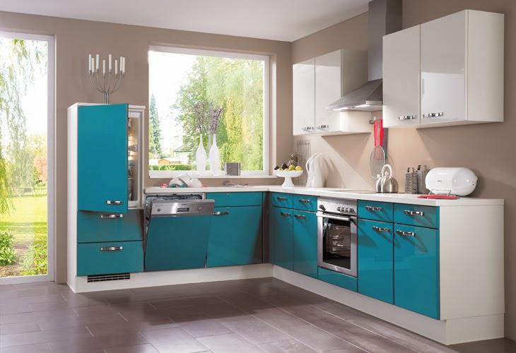 Cocinas de color turquesa colores en casa - Colores pared cocina ...