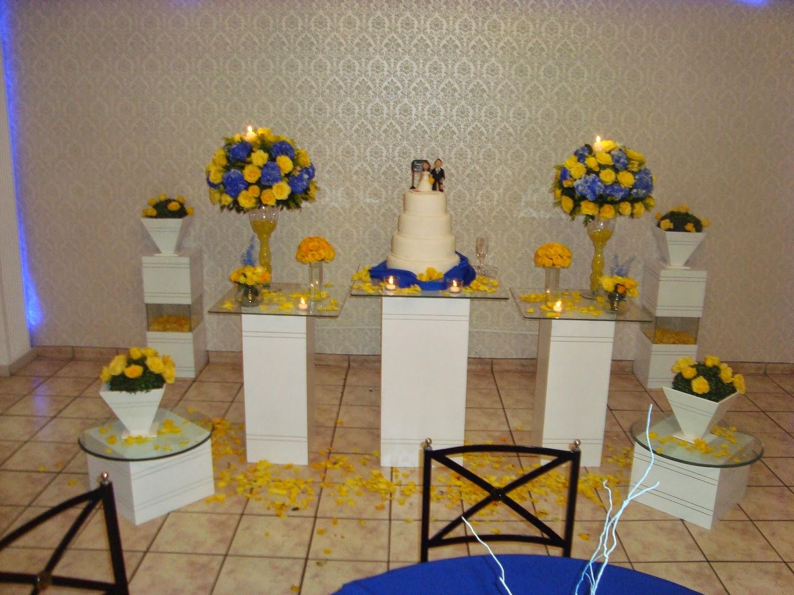 fotos de decoracao de casamento azul e amarelo:Foto Decoracao Amarela Casamento 15