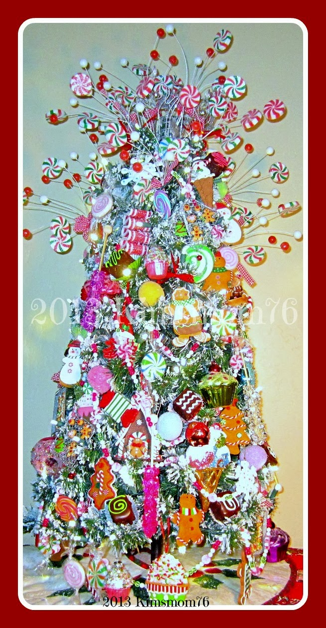 handmade ornaments candyland christmas tree