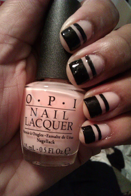O.P.I, You Callin' Me A Lyre?, black tip, french tip, frenchie, stripe, striping, nail art, design, mani