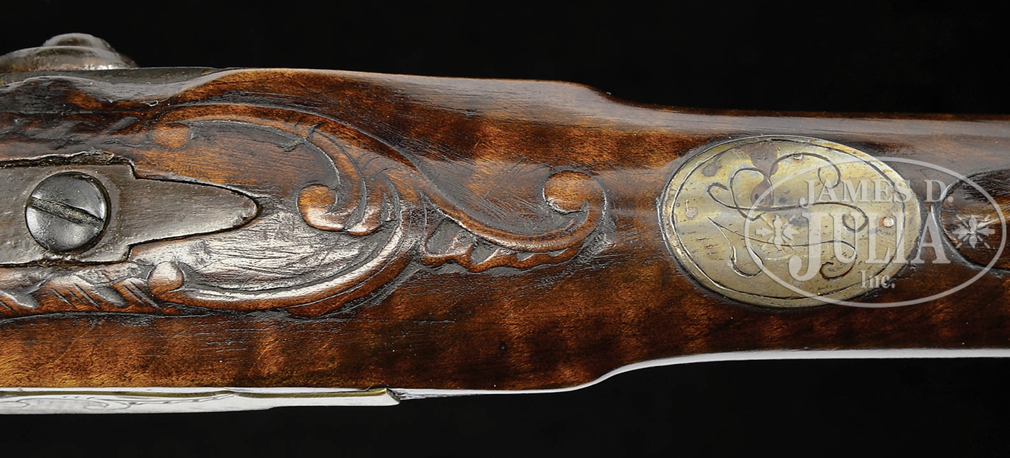 Contemporary makers relief carved golden age flintlock