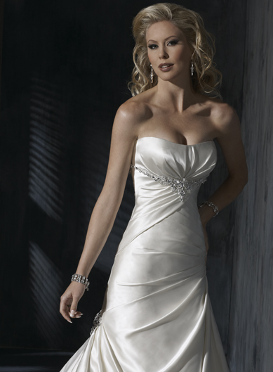 designer wedding gown, Alfred Angelo wedding gown, wedding dresses