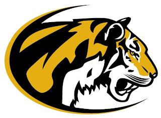 desenho, de, tigre, mascote, ilustração