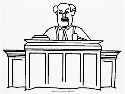 mewarnai gambar profesi hakim