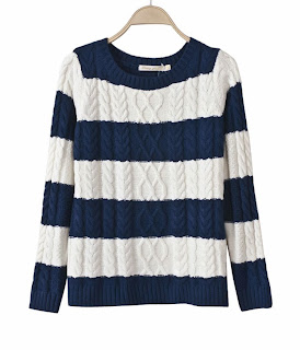http://www.aupie.com/womens-new-arrival-colorblock-blue-round-neck-striped-pullover.html