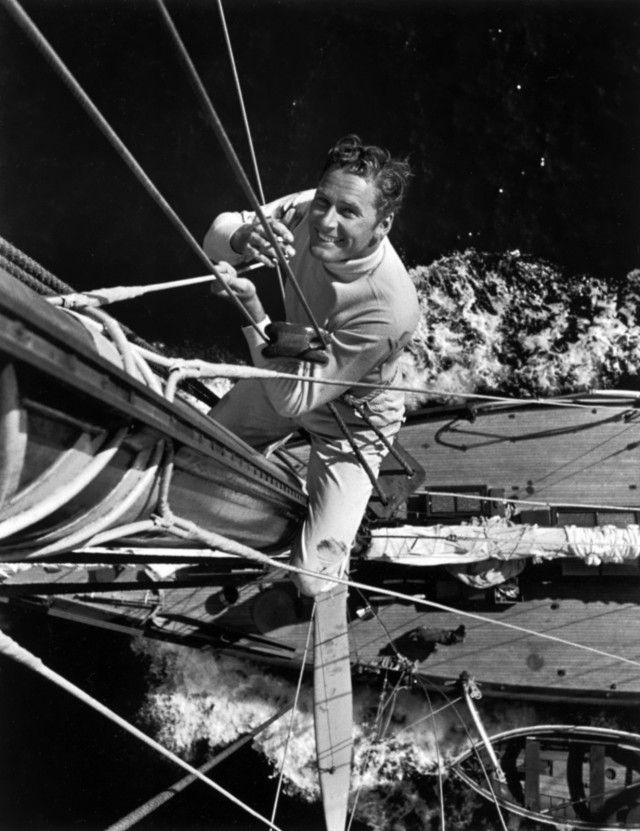 Errol Flynn makes a dapper sailor