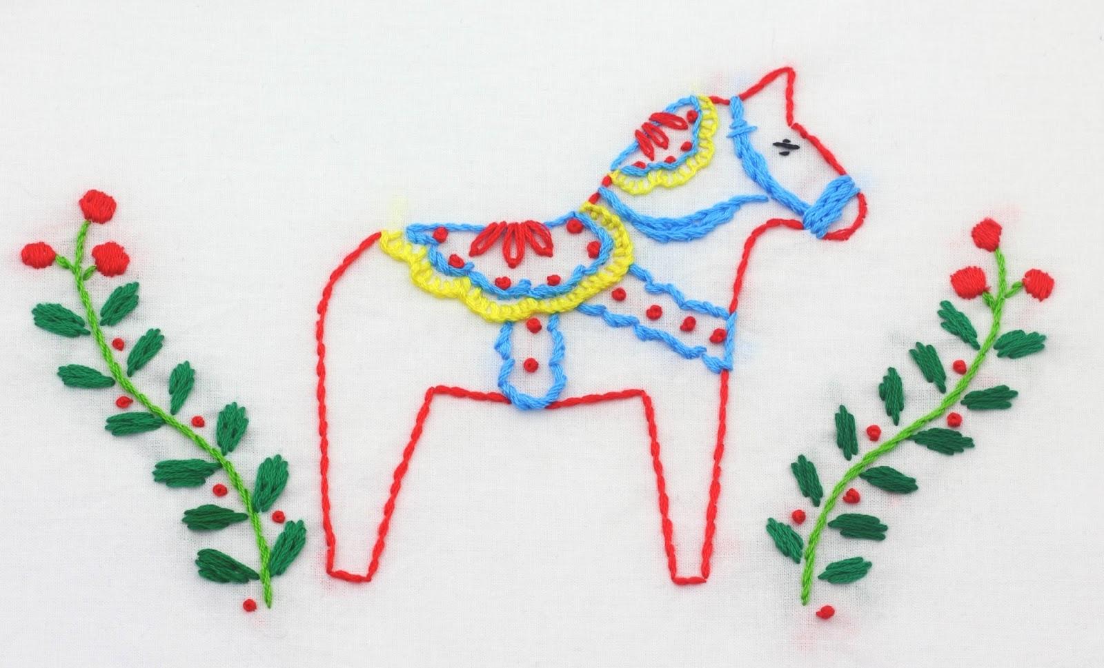 Big b dala horse embroidery