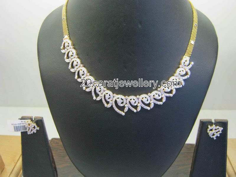 Gorgeous Diamond Necklace Gallery - Jewellery Designs