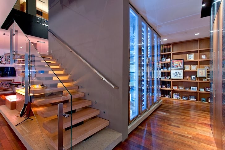 Stairs in Multimillion modern dream home in Las Vegas