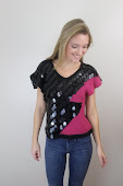Black And Pink Sequin Sweater Top